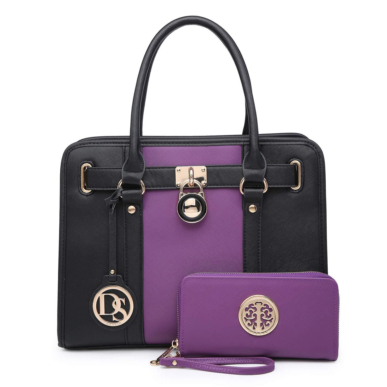 Satchel Handbags Padlock...