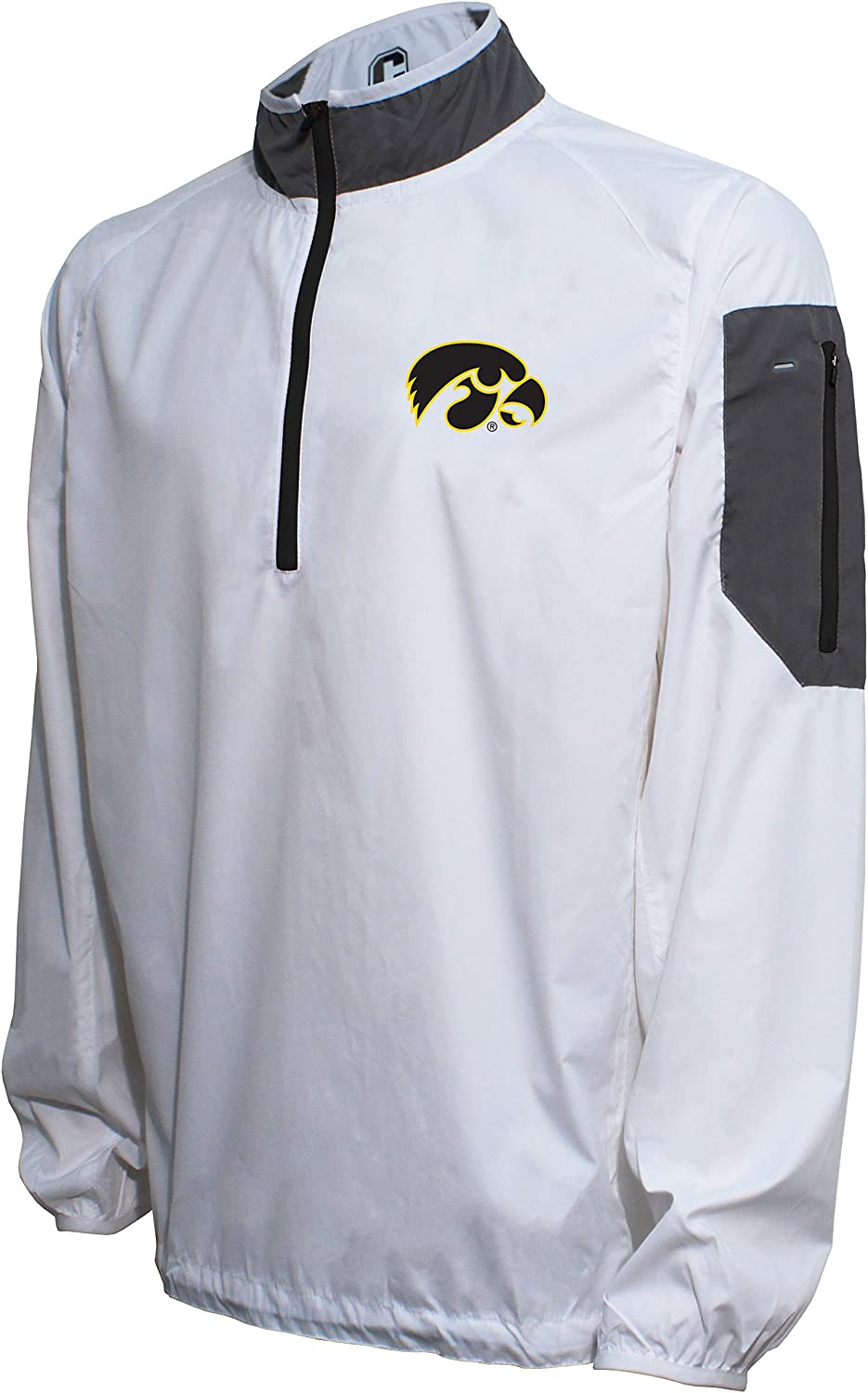 Crable NCAA Mens NCAA Mens Lightweight Windbreaker Pullover