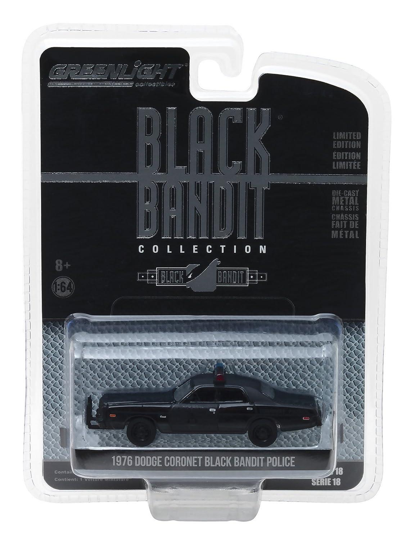 1976 Dodge Coronet Black Bandit Police 1 64 Diecast Model Car by Greenlight 27930 C