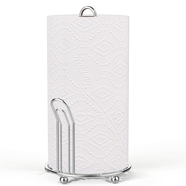 Amazon.com: Simple Houseware SHW - Toallero de papel cromado ...