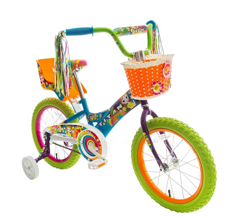 titan Girl s Flower Power Princess BMX Bike, Multi Color, 16-Inch