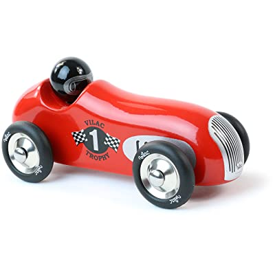 Vilac Old Sport Car, Trophy Red : Push And Pull Baby Toys : Baby