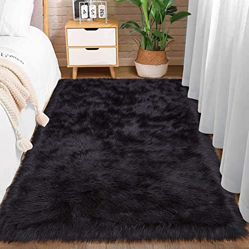Comeet Super Soft Plush Faux Fur Sheepskin Area Rug