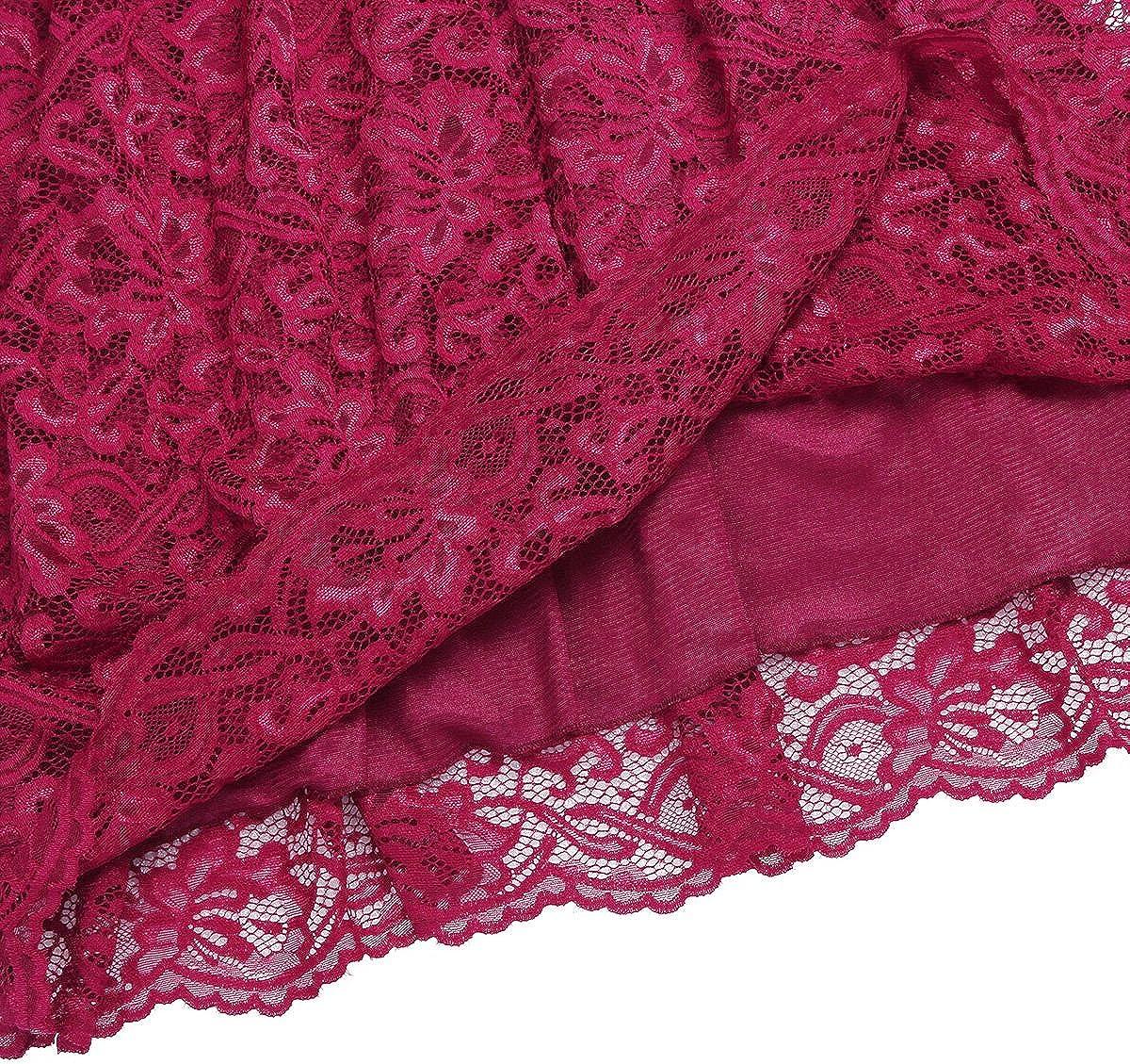 TiaoBug Damen Umstandskleid Spitzenkleid Frauen Schwangerschafts Kleid V-Ausschnitt Mutterschafts Kleid Fotografie Stillkleid mit Geknotetem Dekollet/é