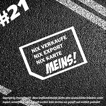 1 Stk Aufkleber Nix Verkaufen Nix Export Nix Karte Meins