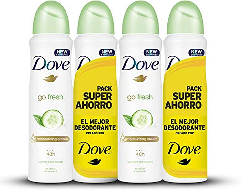 Dove Pack Ahorro Desodorante Pepino, 2 x 200 ml - Total: 400 ml ...