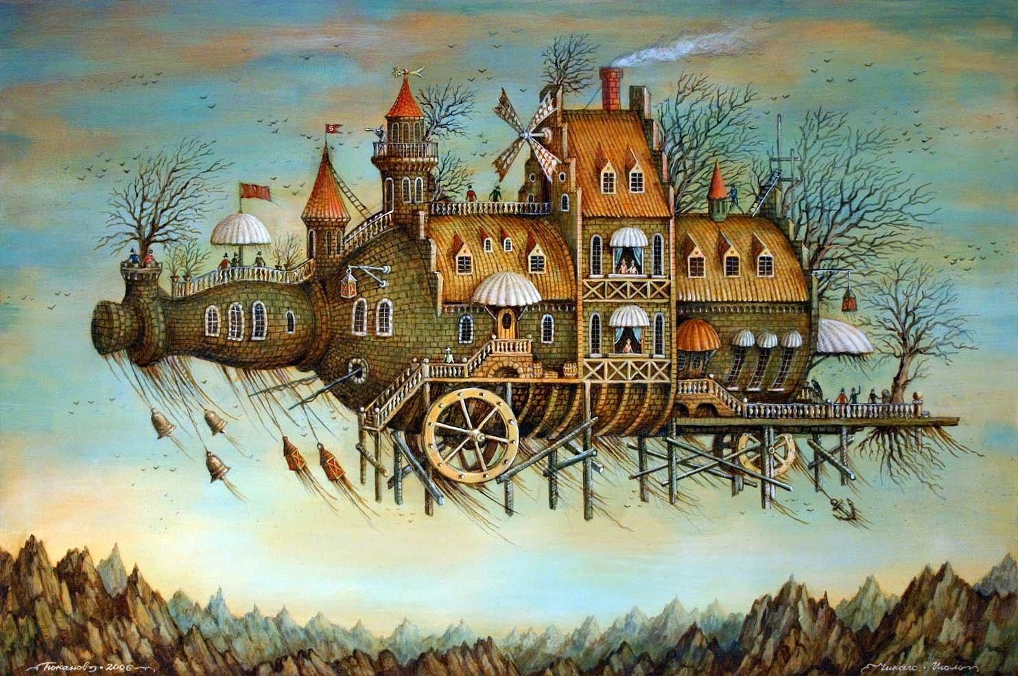 Artifact Puzzles Tyukanov Flying Bottle Wooden Jigsaw Puzzle
