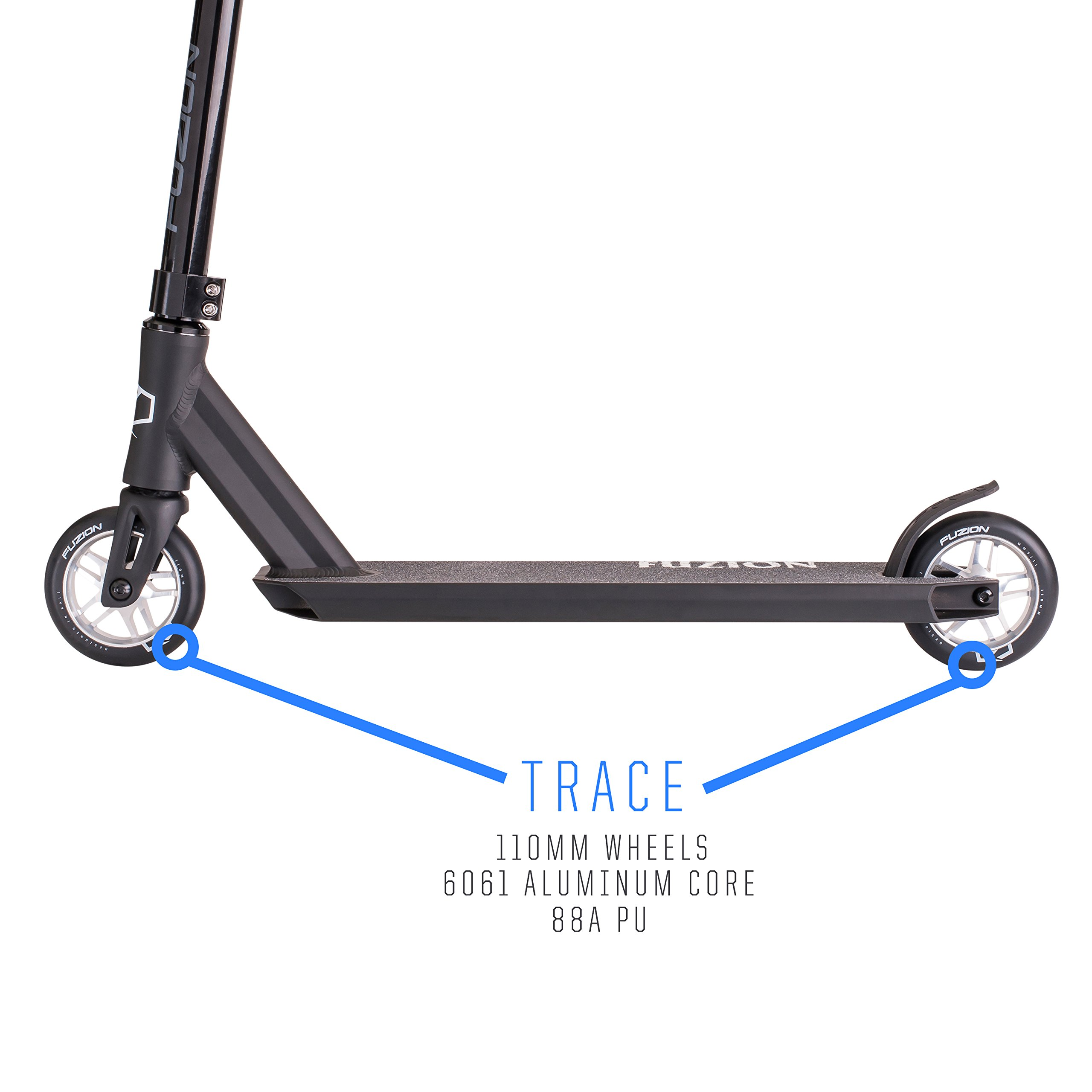 Fuzion Z250 Pro Scooters - Trick Scooter - Intermediate and Beginner Stunt Scooters for Kids 8 Years and Up, Teens and Adults – Durable, Smooth, Freestyle Kick Scooter for Boys and Girls (Black) by Fuzion (Image #3)