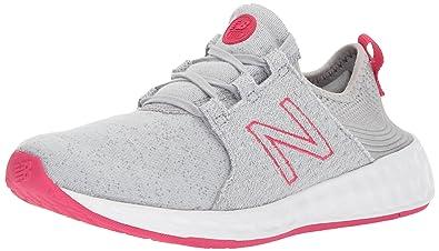 Kids Cruz v1 Running-Shoes, Grey/Ozone Blue, 1.5 W US Little Kid New Balance
