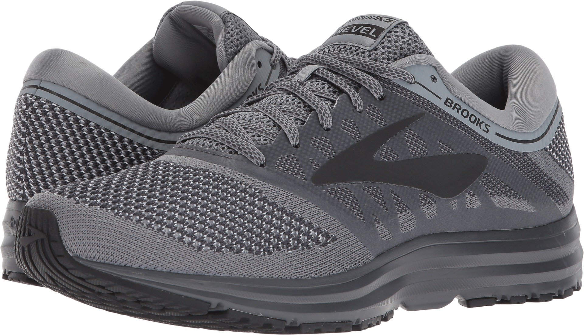 dcff7016d38 Galleon - Brooks Men s Revel Grey Ebony Black 8.5 D US