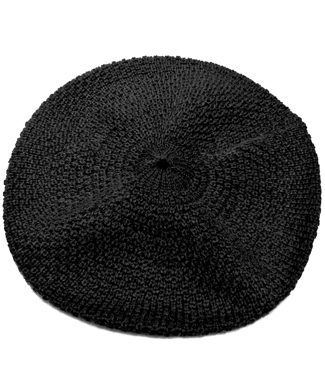 100% Pure Baby Alpaca Knit Beret - Soft Slouchy Style Tam for Women (Black) by Incredible Natural Creations from Alpaca - INCA Brands