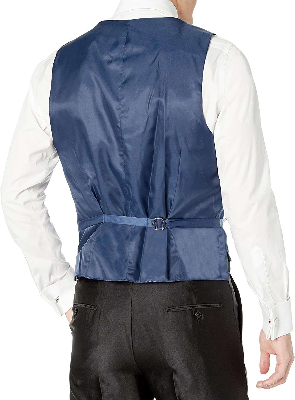 Colors Adam Baker Mens 3 Piece Slim Fit Peak Lapel Tuxedo Suit Set