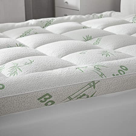 Details about  /Cooling Thick Mattress Topper Breathable Pad Down Alternative Deep Fitted Cover