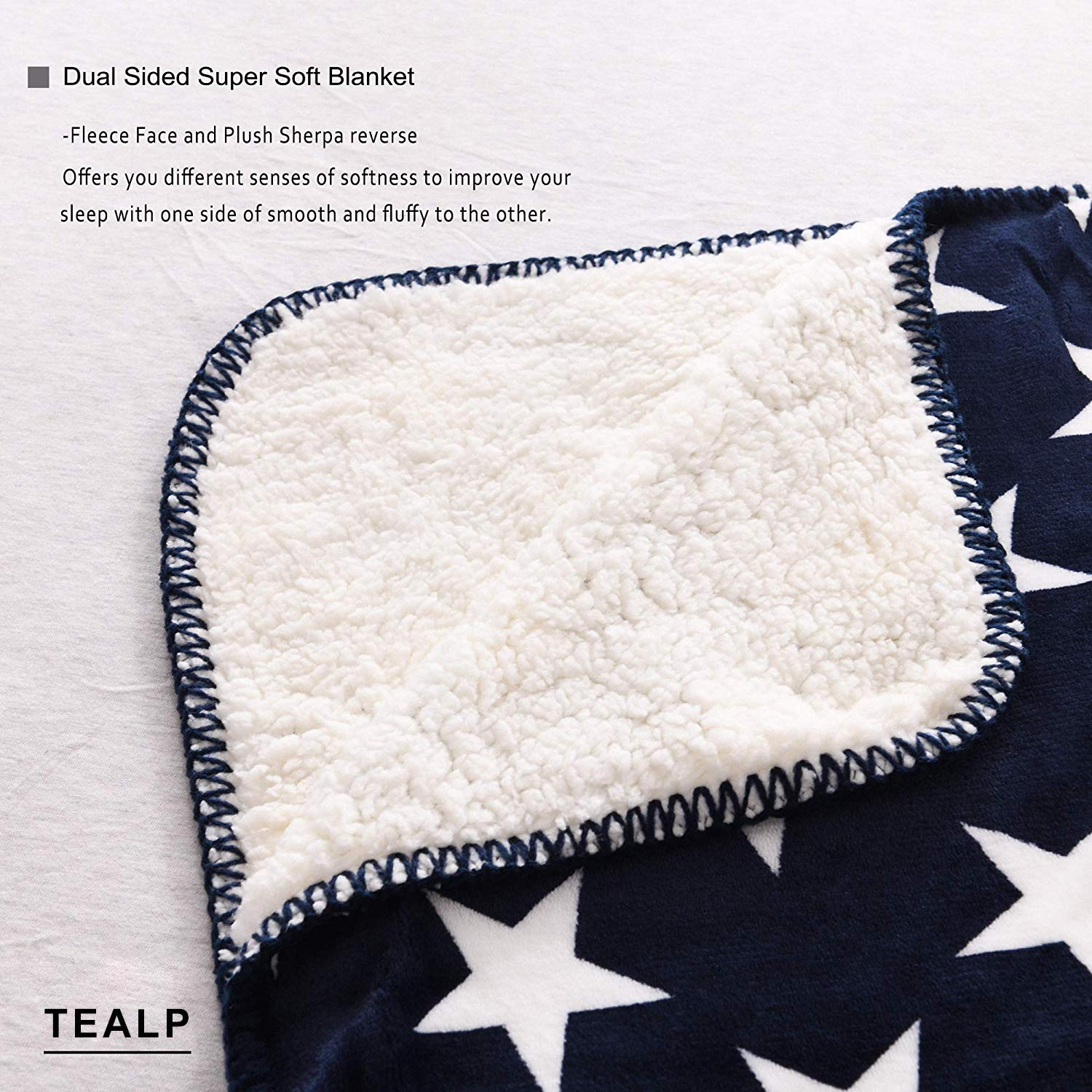 TEALP Sherpa Fleece Blanket Fluffy Soft Blanket British Flag Throw Blanket Travel Camping Blanket fit Couch Sofa Bed 51x 59 inch