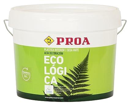 Proa PI100J Pintura plástica Interior ecológica, Blanco, 4 L