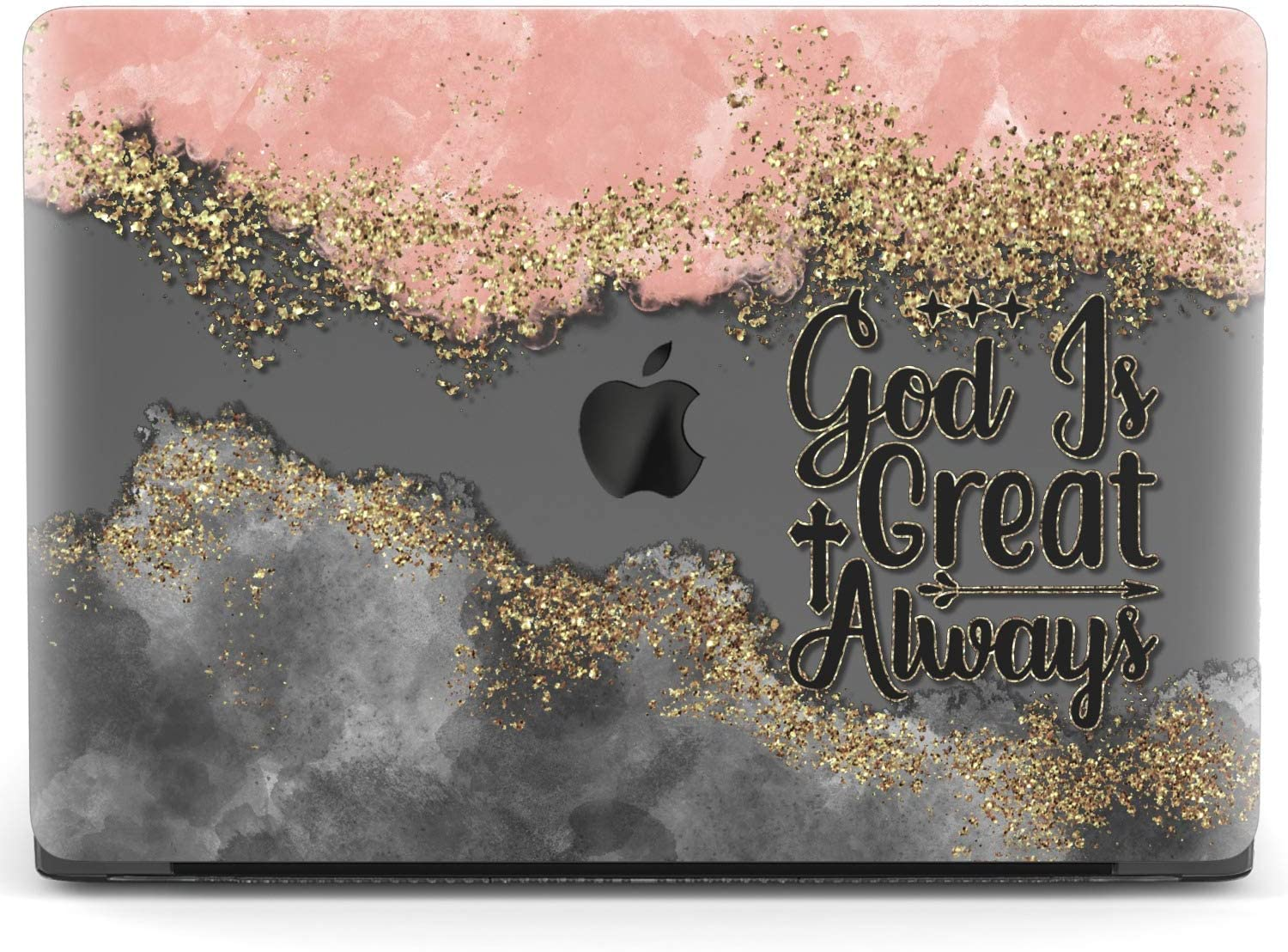 Mertak Hard Case for Apple MacBook Pro 15 2020 Air 13 inch Mac 16 Retina 12 11 2019 2018 2017 God is Great Protective Abstract Plastic Design Touch Bar Christian Print Bible Verse Inspirational Quote