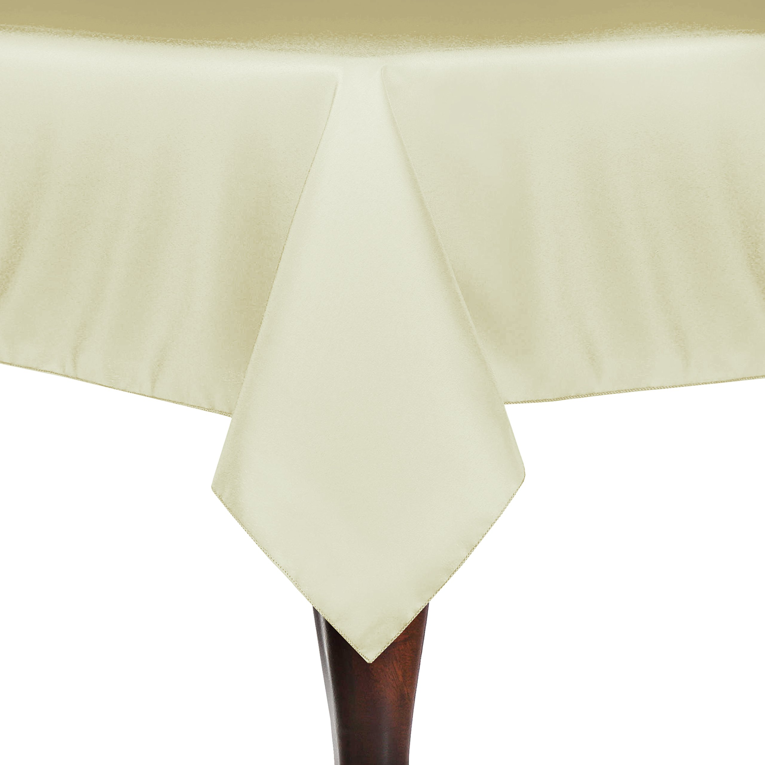 Ultimate Textile (60 Pack) 60 x 60-Inch Square Polyester Linen Tablecloth - for Wedding, Restaurant or Banquet use, Tan Beige