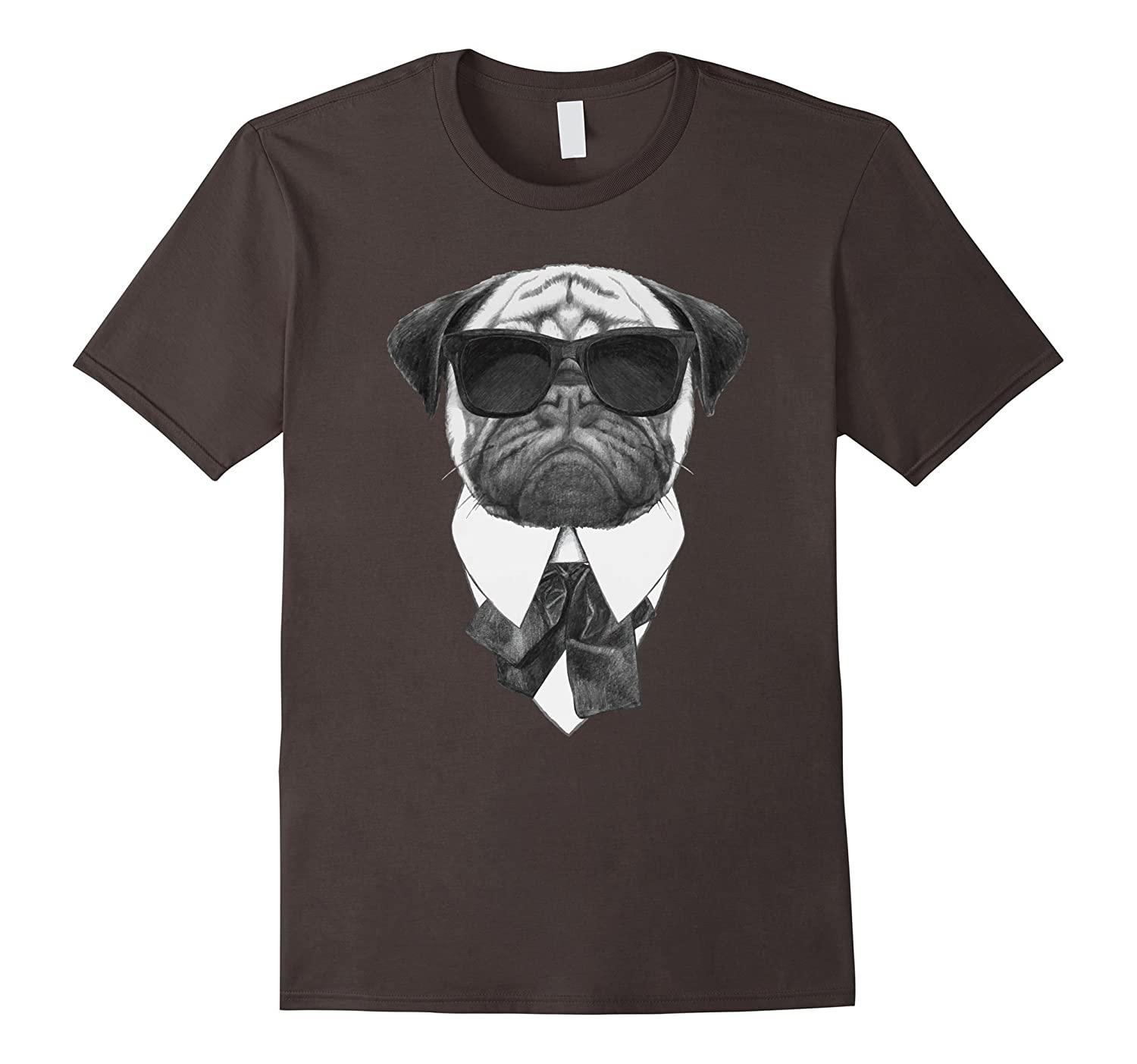 Pug in a Suit and Bow Tie T-Shirt - Men, Women and Children-BN