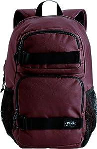 VANS Skates Pack 3 B Laptop School Student Backpack Bag (Maroon/Black)
