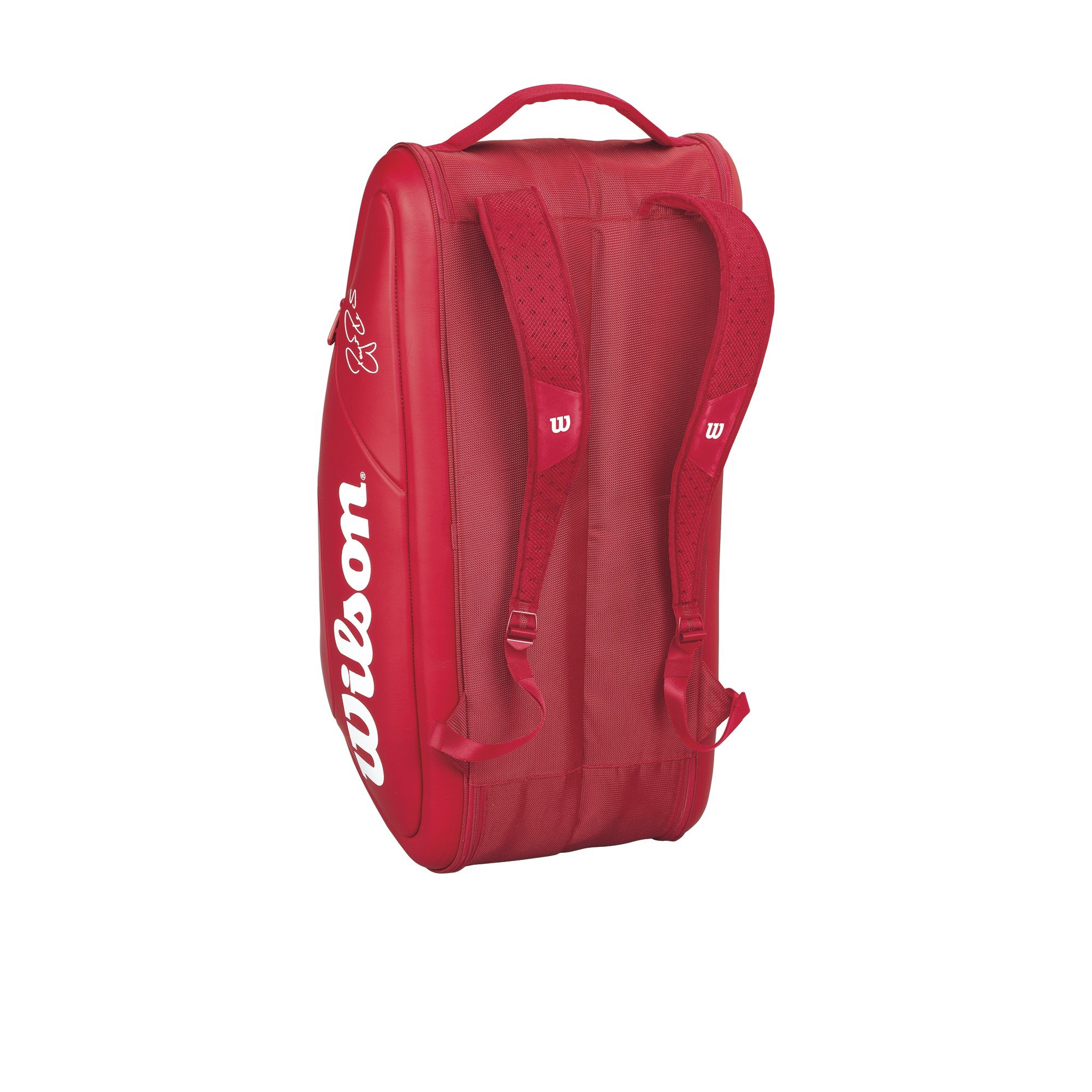 Wilson Federer DNA Collection Racket Bag (Holds up to 12), Red by Wilson (Image #3)