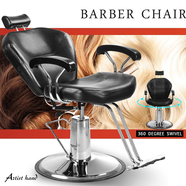 Artist Hand Elegance Barber Chair Hydraulic Recline Swivel Adjustable Salon Beauty Tattoo Hairdressing Shaving 150kg Capacity DongKai