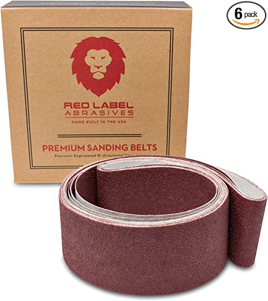 "6/"" X 48/"" Inch A//O Metal Wood Sanding Belt Kit MEDIUM 80 100 120 180 Grit 4 PACK"