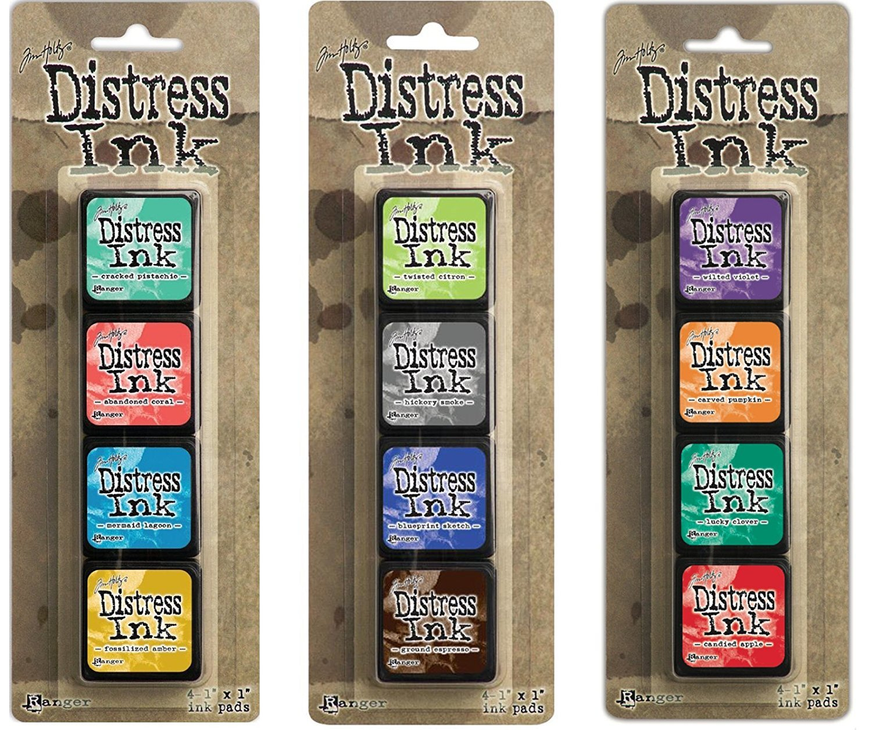 Ranger Tim Holtz Distress Mini Ink Pad Kits - #13, #14 and #15 Bundle by Ranger Tim Holtz 01146002795