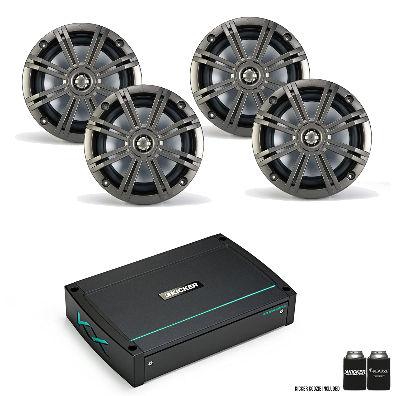Kicker 44 x kma4004 400ワットAmp with 2つのペアのkm654cw 6.5