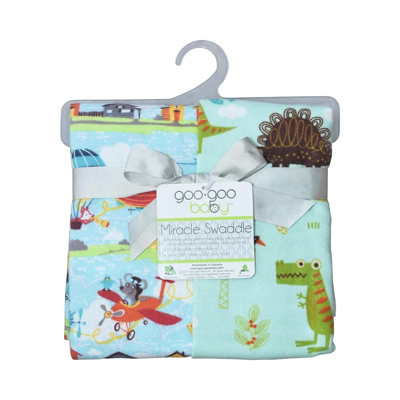 Aviators//Jurassic Goo-Goo Baby Miracle 2 Piece Swaddle Blanket