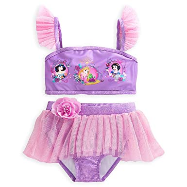 58ff87cf0f Image Unavailable. Image not available for. Color: Disney Princess Deluxe  Swimsuit for Girls ...