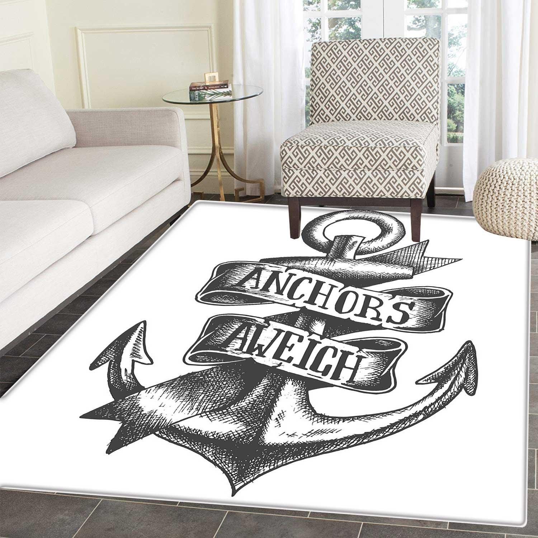 Anchor Area - Alfombra de Tatuaje, diseño de símbolo Azul Marino ...