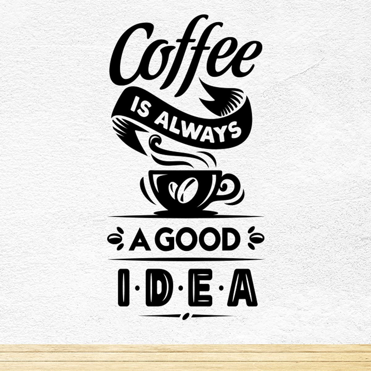 Wall20stickers Coffee Good Idea café Bonne idée Coupe Cuisine Art