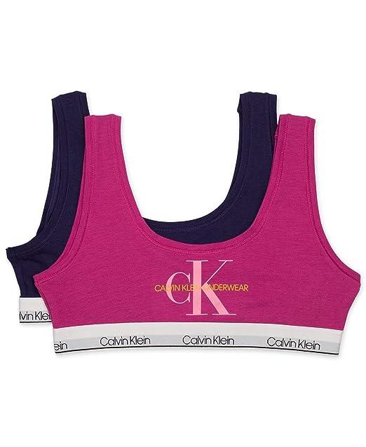 9604f6230c0 Calvin Klein Girls  Little Modern Cotton Classic Crop Bra (Pack of 2)