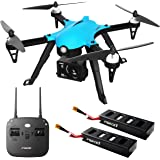 Force1 F100 Ghost Drone with Camera - Compatible Go Pro Drone with Brushless Drone Motors and 2 Batteries and 2 Shells