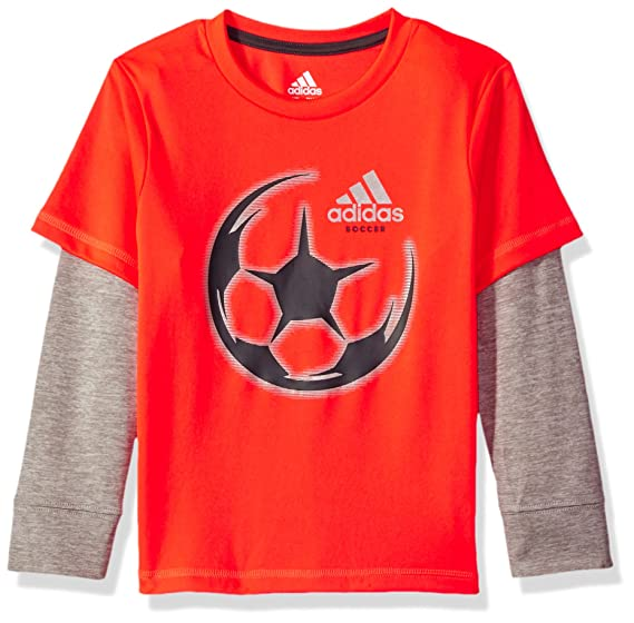 adidas Boys Active Two-fer Tee Shirt