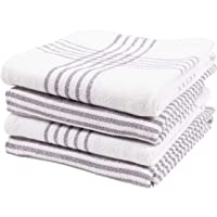KAF Home Set of 4 Monaco Relaxed Casual Slubbed Kitchen Towel | 100% Cotton Dish Towel, 18 x 28 Inches | Soft and…