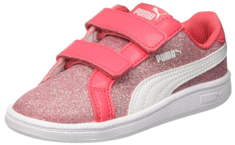 Puma Smash Glitz Glamm V Inf, Zapatillas Unisex Niños 22 EU|Rosa (Paradise Pink-puma White)