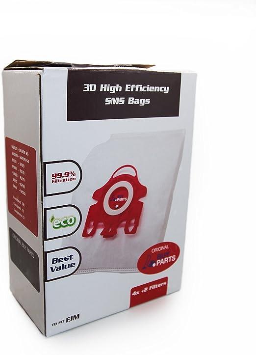 BuyParts Ltd Miele Tipo FJM HyClean 3D Eficiencia Bolsa de Polvo, Tipo FJM, 4 Bolsas y 2 filtros: Amazon.es: Hogar