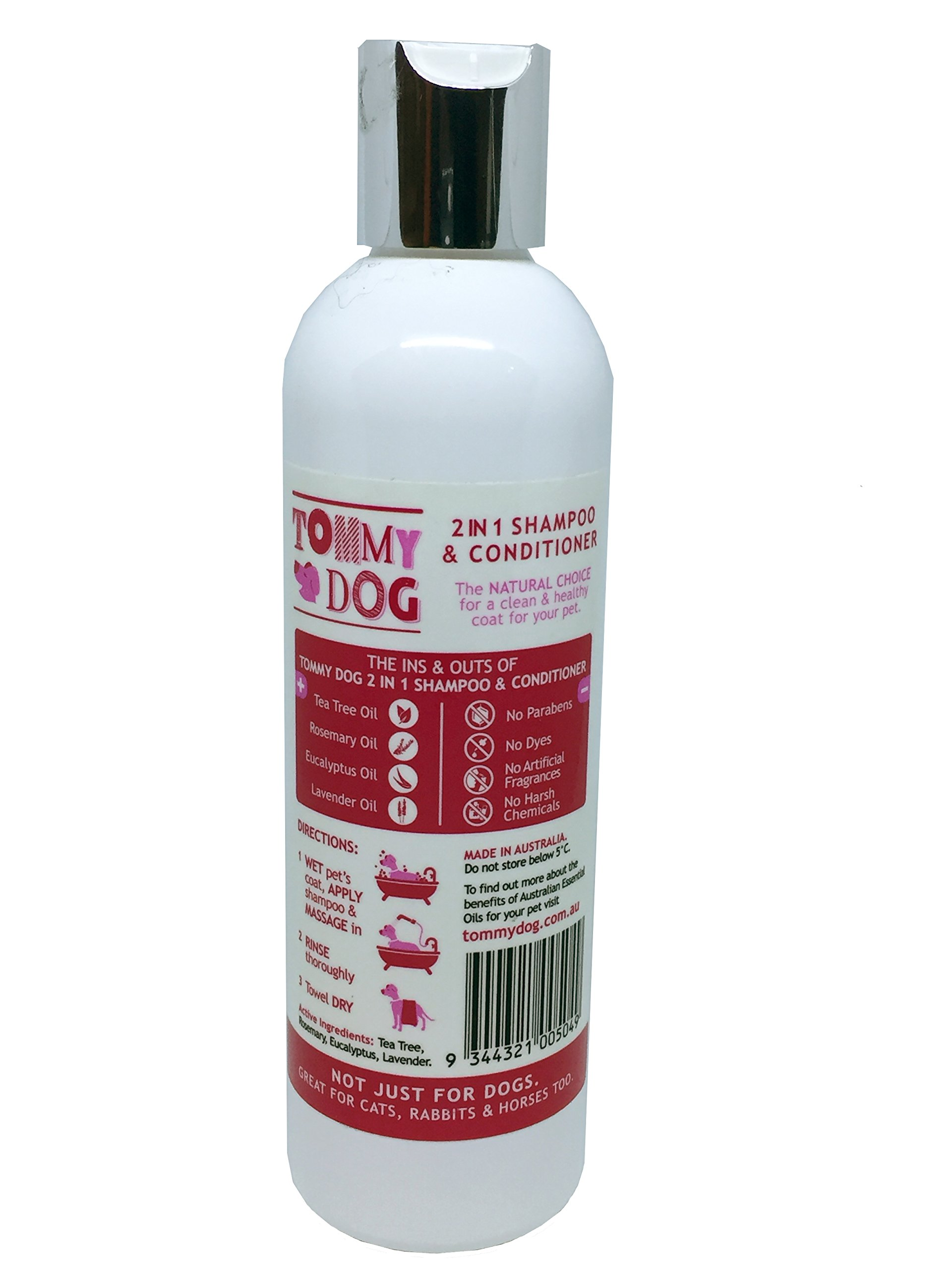 Tommy Dog 2 in 1 Shampoo & Conditioner - 8.45 oz - Soothing, Moisturising Shampoo Professionally Formulated to Cleanse and Nourish Coats to help Maintain Healthy Skin and Coat Condition.