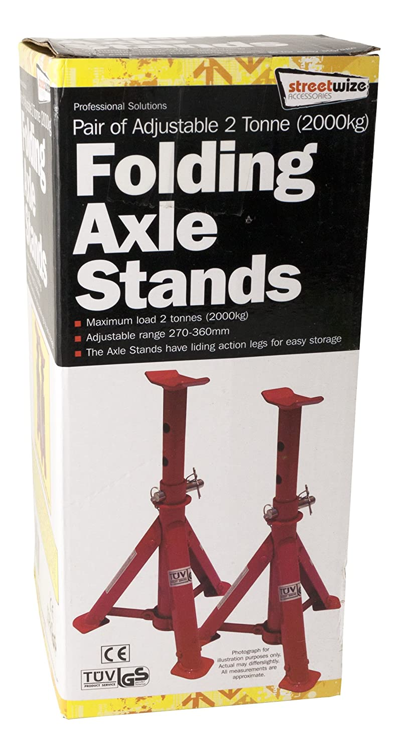 SW2TFAS Streetwize Pair of Adjustable Folding Axle Stands