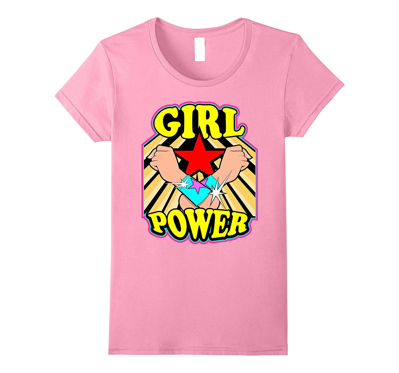 Womens Feminist graphic tees Girl Power Harajuku feminism t shirt-Rose