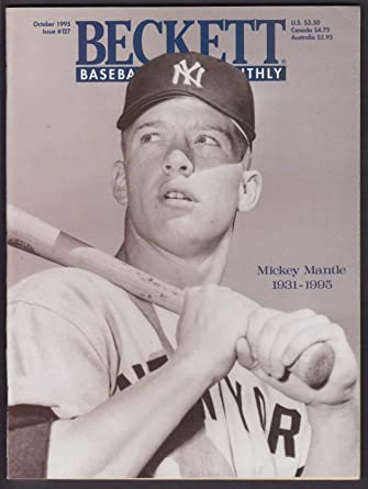 Beckett Baseball Card Monthly 127 Mickey Mantle Bob Costas