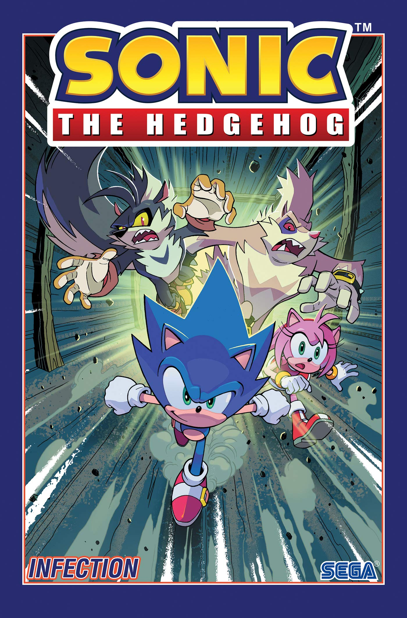 Amazon Com Sonic The Hedgehog Vol 4 Infection 9781684055449 Flynn Ian Thomas Adam Bryce Yardley Tracy Lawrence Jack Skelly Diana Books
