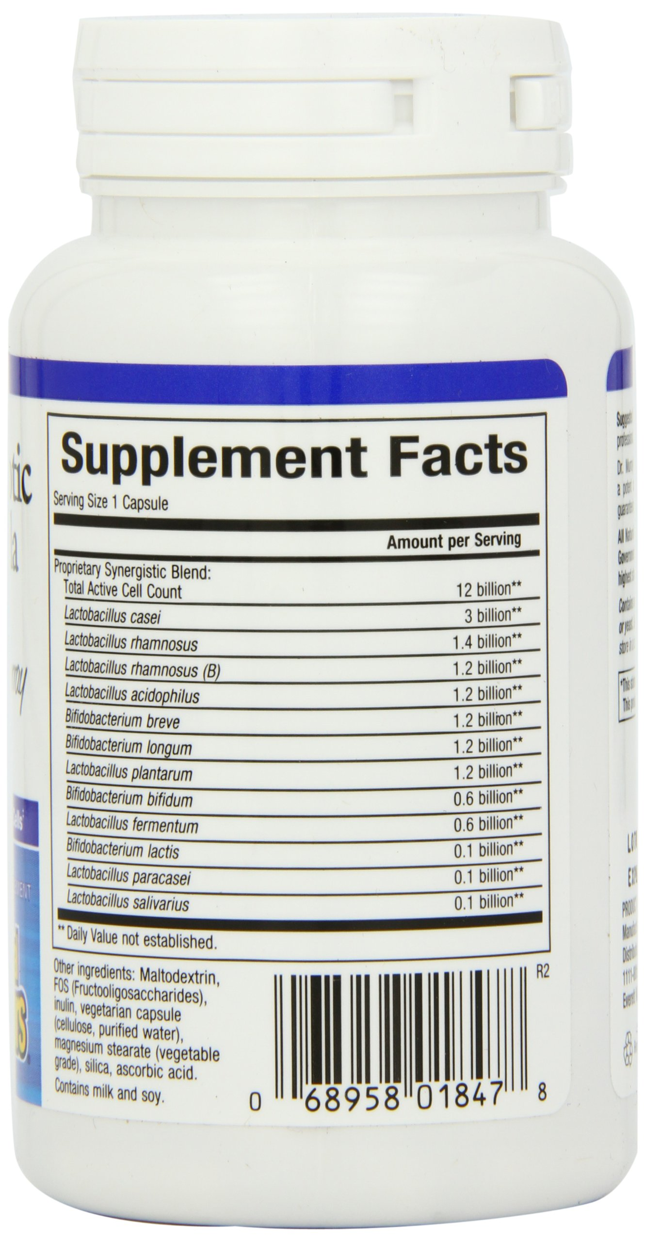 Natural Factors - Ultimate Probiotic 12/12 Formula, Supports Intestinal & Digestive Health, 60 Vegetarian Capsules