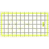 Quilting Ruler Acrylic Ruler Transparent - Imperial 12 x 6 Inch with 2 sides Metal Edges