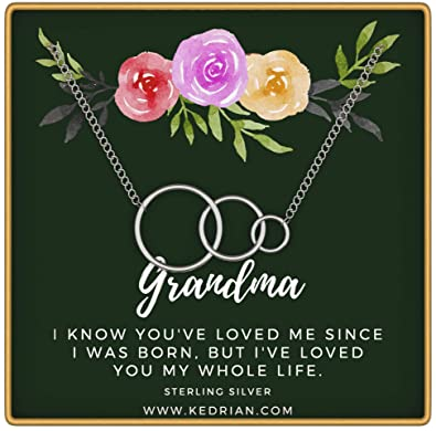 8223a4fb6 KEDRIAN Grandma Necklace, 925 Sterling Silver, Grandma Gifts, Gifts for  Grandma, Great Grandma Gifts, Grandmother Gift, Nana Gifts, Grammy Pendant  Necklaces ...