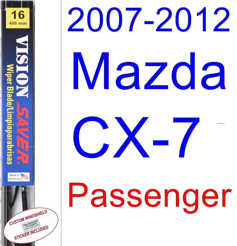 Amazon.com: 2007-2012 Mazda CX-7 Wiper Blade (Driver) (Saver Automotive Products-Vision Saver) (2008,2009,2010,2011): Automotive