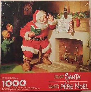 Image Pere Noel Coca Cola.Amazon Com Coca Cola Springbok Dear Santa Claus Cher Pere
