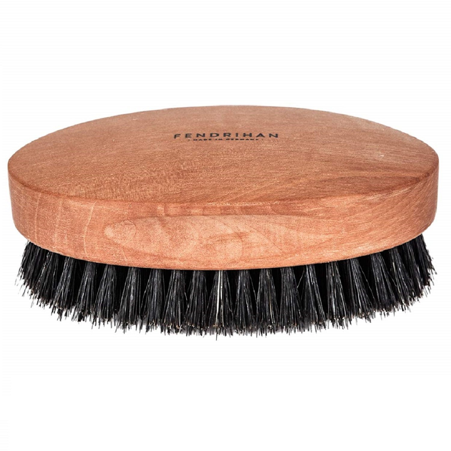 Fendrihan Genuine Boar Bristle and Pear Wood Military Hair Brush, Made in Germany SOFT BRISTLE