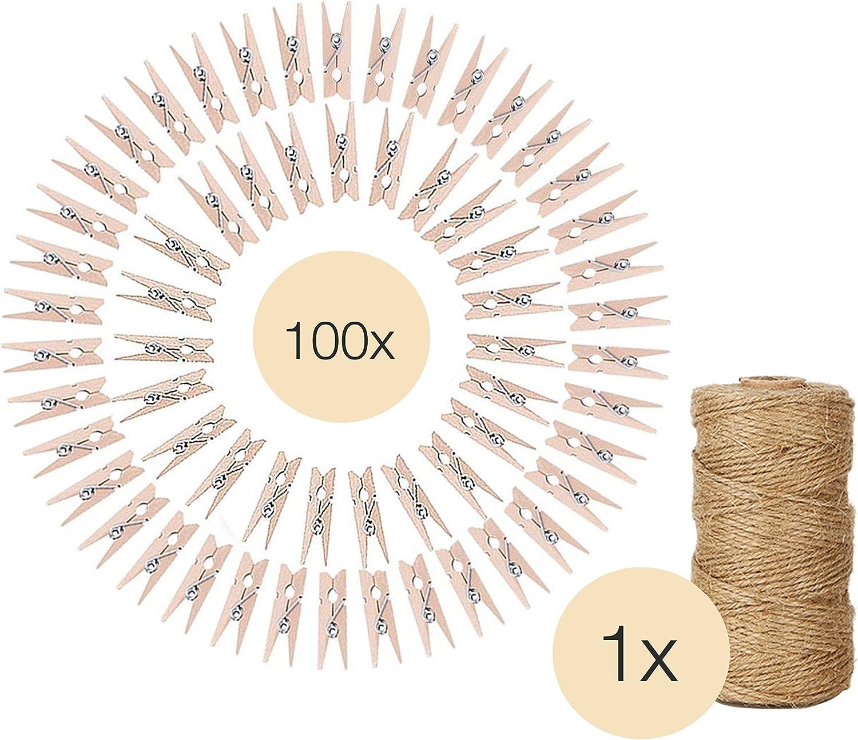 Wäscheklammer Holz XXL 20 Stück Holzklammern Holzwäscheklammer 9,5cm Basteln